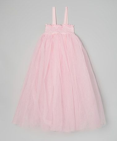 So pretty for a little girl portrait session  Look what I found on #zulily! Light Pink Fairy Dress - Girls #zulilyfinds
