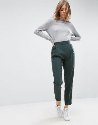 Суженные книзу брюки с завышенной талией ASOS