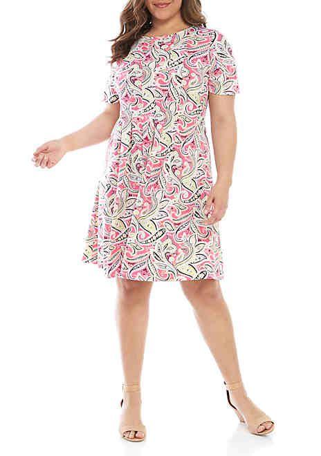 Plus Size Dresses for Women | belk | Shopping | Paisley dress ...