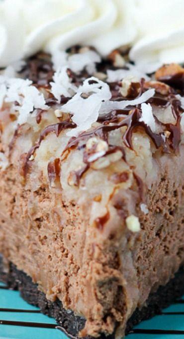 No-Bake German Chocolate Cheesecake