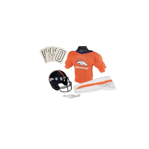 Denver Broncos Youth NFL Deluxe Helmet and Uniform Set (Small)