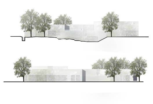 Receivingsecond-place in theClassic Siftung Weimar international competitionfor the New Bauhaus Museum, the proposal by Architekten HRK (Klaus...