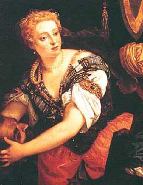 "Veronica Franco (1546–1591) was an Italian poet and courtesan in 16th century Venice.  ""When we too are armed and trained, we can convince men that we have hands, feet, and a heart like yours; and although we may be delicate and soft, some men who are delicate are also strong; and others, coarse and harsh, are cowards. Women have not yet realized this, for if they should decide to do so, they would be able to fight you until death; and to prove that I speak the truth, amongst so many women…"