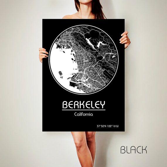 BERKELEY California Map Berkeley Poster City Map Berkeley