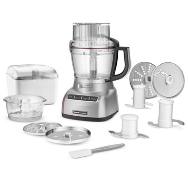 #ilovetoshop KitchenAid 13 Cup Food Processor with Bonus Accessory Pack and $50 Mail-In Rebate - SILVER