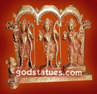 Brass Ram Darbar made in South India Style. #handicrafts #godstatues #god #hindu #brass http://www.godstatues.com/