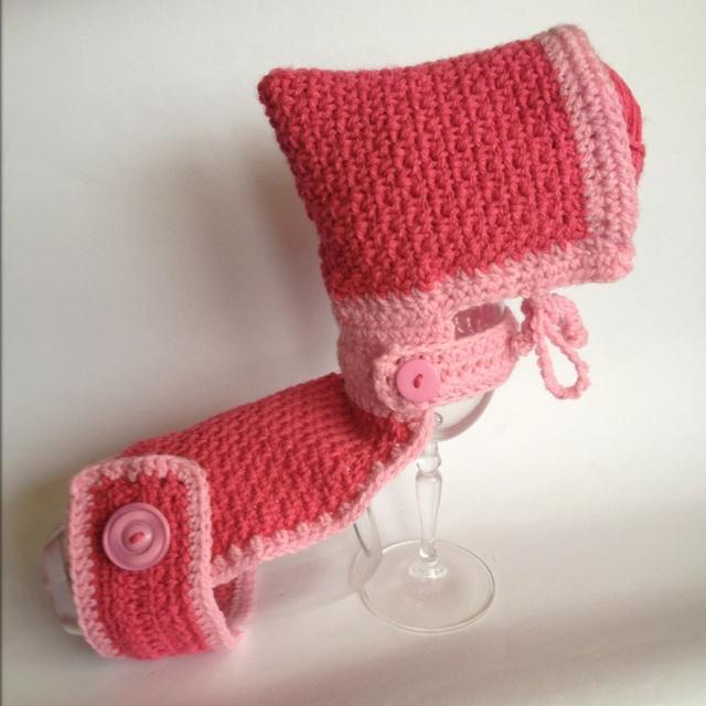 Crochet dog hooded cape