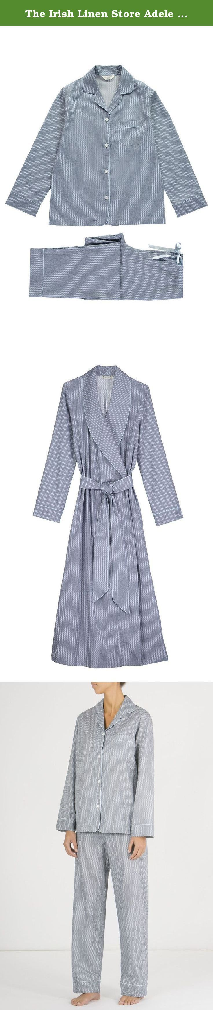 The Irish Linen Store Adele Classic Cotton Pyjamas Large. These lightweight pyjamas are truly lovely. They are perfect for those who prefer lighter weight nightwear. All pyjamas are finished with pretty piping detail and a comfortable half elastic half ribbon drawstring waist for comfort. The classic cotton pyjamas are made from fine woven stripe cotton in fine, cool, printed cotton lawn.