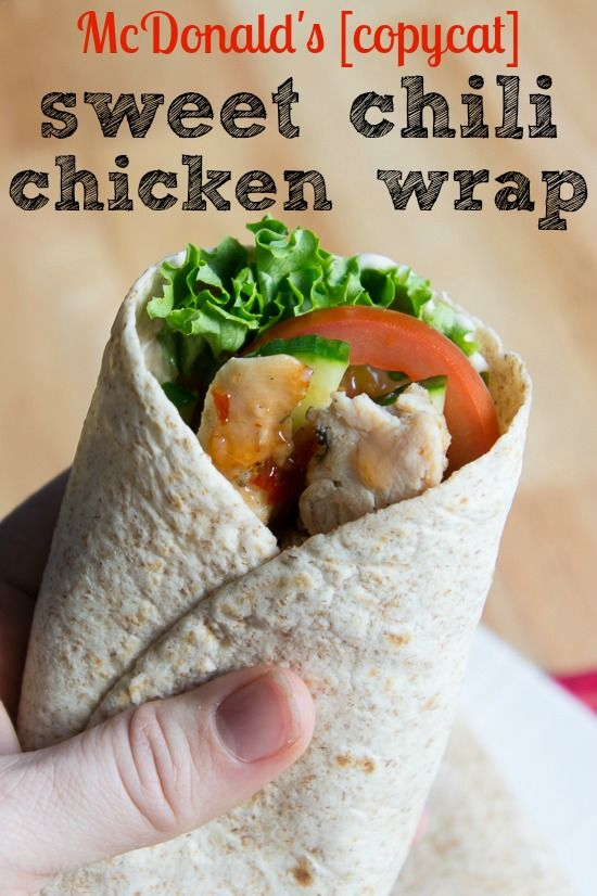 McDonald's CopyCat Sweet Chili Chicken Wrap - use a garlic aioli in place of the mayo to make it more authentic