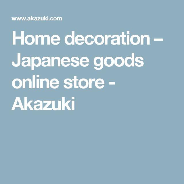 Home decoration – Japanese goods online store - Akazuki