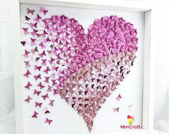 paper butterfly 3d butterfly wall art by MoncraftWallArt on Etsy