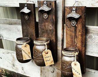 Groomsmen Gift Birthday Gift Mason Jar Rustic von TeddysRoom