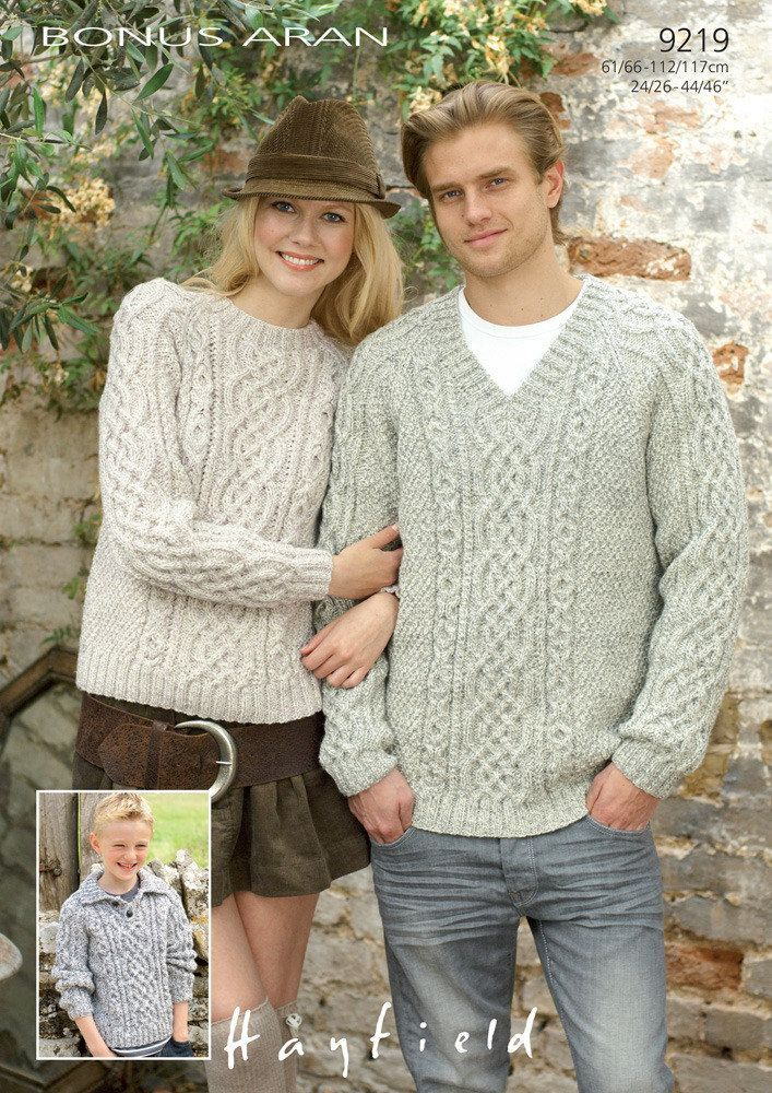 Sweaters in Hayfield Bonus Aran with Wool. Discover more Patterns by Hayfield at LoveKnitting. The world's largest range of knitting supplies - we stock patterns, yarn, needles and books from all of your favourite brands.