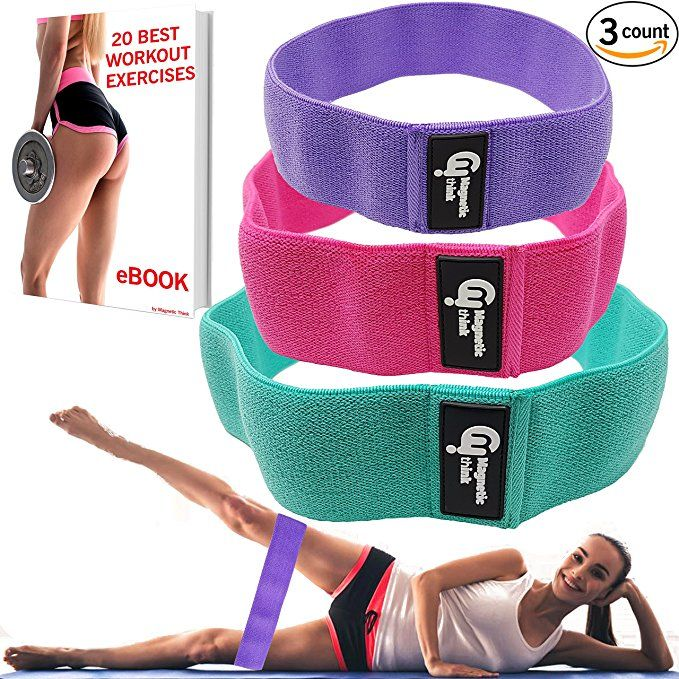 Resistance Bands Booty Fabric Glutes Hip Circle Legs Squat Yoga NonSlip Exercise