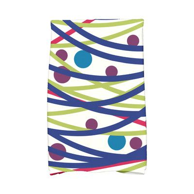 The Holiday Aisle Jump for Joy Doodle Decorations Hand Towel Color: Blue