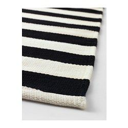 "STOCKHOLM Rug, flatwoven, black handmade stripe, off-white stripe black/off-white - 5 ' 7 ""x7 ' 10 "" - IKEA"