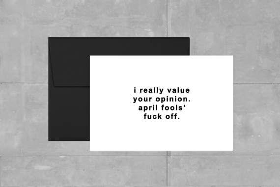 April Fools' Card  Dry Humor Card  Funny Card  Humor by FOLIandLO