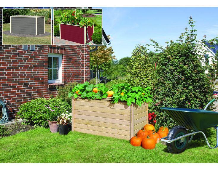 Hochbeet Kräuterbeet Gemüsebeet Holz Blumenkasten 19mm in versch Farben & Größen   Garten & Terrasse, Pflanzzubehör, Körbe, Blumentöpfe & -kästen   eBay!