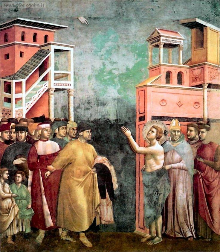 GIOTTO, Storie di San Francesco, Basilica di Assisi, rinuncia ai beni paterni