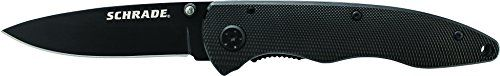 Schrade SCH401LALBK Large Liner Lock Folding Knife Drop Point Blade Black Aluminum Handle ** Find out more about the great product at the image link.Note:It is affiliate link to Amazon.