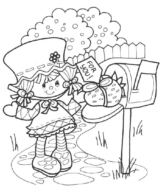 Strawberry Shortcake Colouring Pictures 2