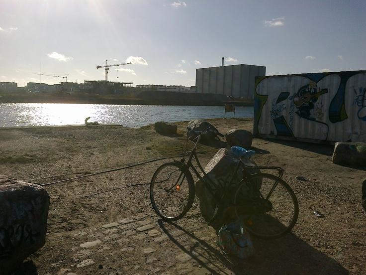 At the legal graffiti wall, Sydhavnen, Copenhagen.