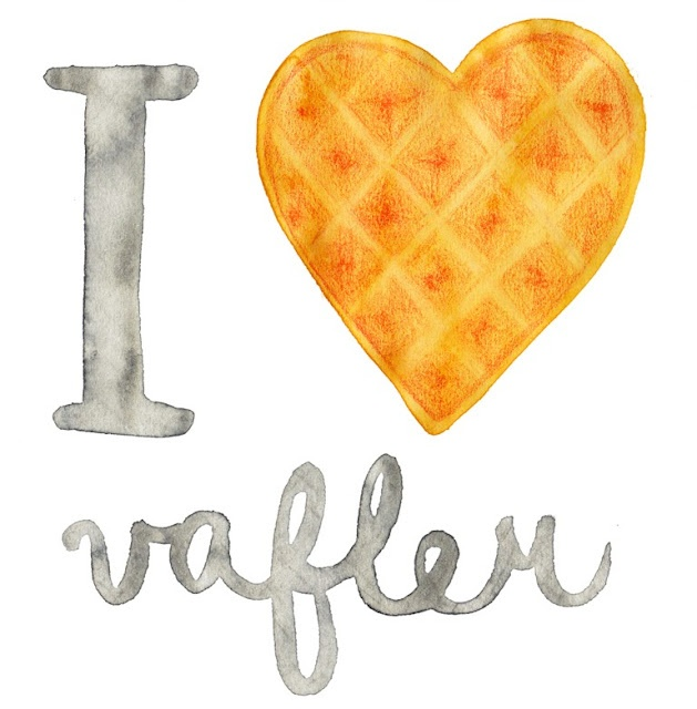 Norwegian Food Illustrated (by an italian)   Must find a Vegan Recipe for Vafler. These are so soft, warm off the griddle w/melting butter.
