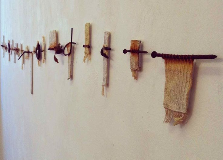 Alice Fox Tide Line (tapestry weave with found objetcs)