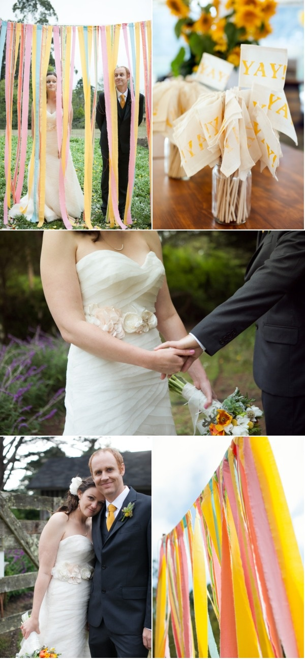 Mendocino Weddings on Style Me PrettyPhotos Spots, Ripped Fabrics, Beautiful Summer, Flags, Fabrics Backdrops Fun, Simple Fabrics, Paper Backdrops, Ribbons Creps Paper, Survivor Tents
