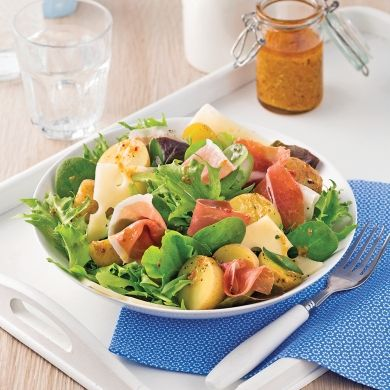 Salade de pommes de terre et prosciutto - Soupers de semaine - Recettes 5-15 - Recettes express 5/15 - Pratico Pratique