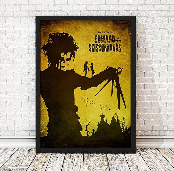 Edward mit den Scherenhänden  Tim Burton-Film-Poster von TopPoster