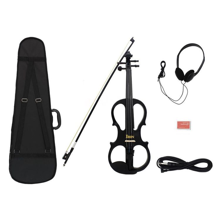 IRIN 4/4 Wood Maple Electric Violin Fiddle with Ebony Fittings Cable Headphone Case Black //Price: $US $86.27 & FREE Shipping //     #hashtag4