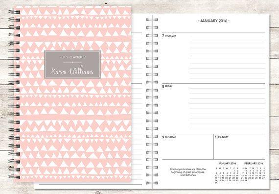 Planer 2016 / 2017 12-Monats-Kalender von posypaper auf Etsy