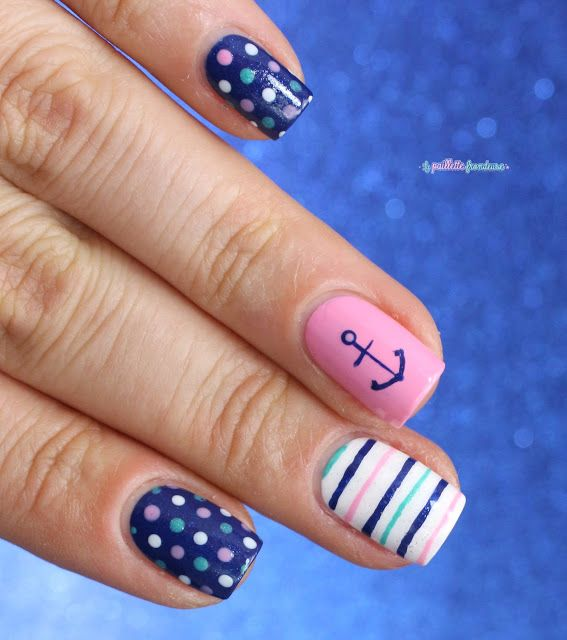 essie summer 2016 loot the booty nautical nail art