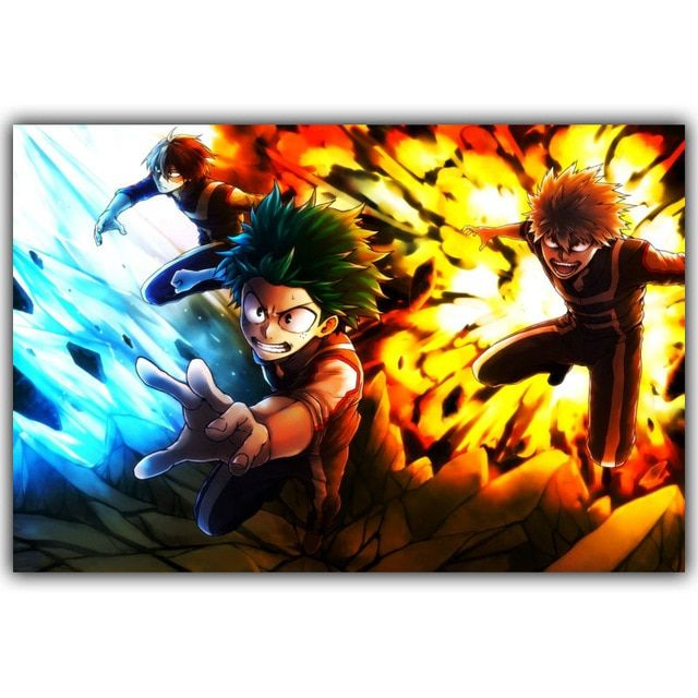 Boku No Hero Academia Silk Print Poster Boys And Girls Bedroom Decorated Japanese Anime Posters Wallpaper Poster Prints Wall Canvas Painting Posters And Prints