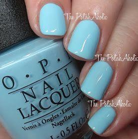 OPI:  Sailing & Nailing  ... a light BLUE creme nail polish from the OPI Summer 2016 Retro Summer Collection