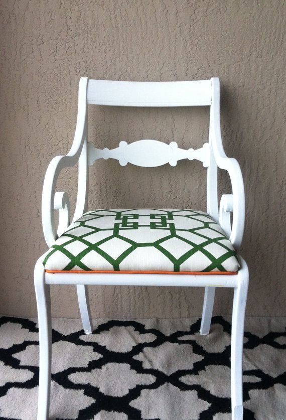 Vintage Duncan Phyfe Style Scroll Arm Wood Side Chair