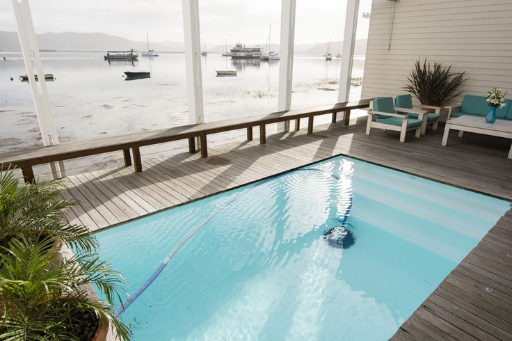 View from the Swimming Pool of the Paddle Cruiser on the Knysna Lagoon, www.thelofts.co.za.