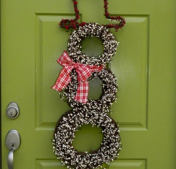 Ghirlanda pupazzo di neve #natale #christmas #xmas #decorations