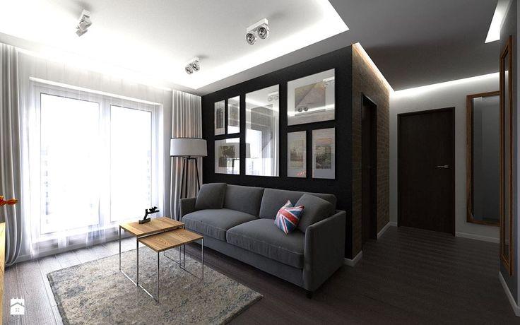 Industrialny salon z kuchnią - zdjęcie od Malee - Projektowanie z pasją - Salon - Styl Industrialny - Malee - Projektowanie z pasją
