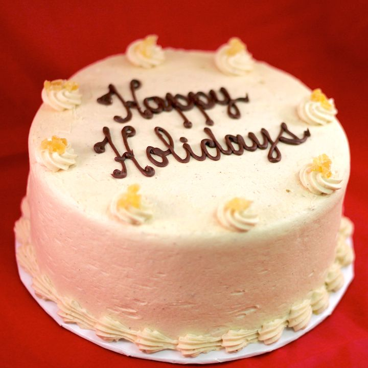 Happy Holidays to you and your friends! Order a customizable cake online 2 days in advance now!