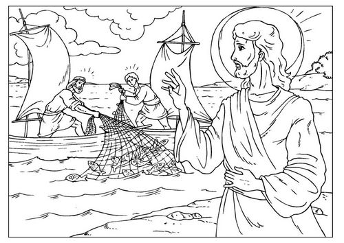 Coloring page fishers of men