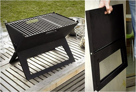 Notebook Portable Grill made by Direct Designs. I read about it in my Bon Appetit magazine.