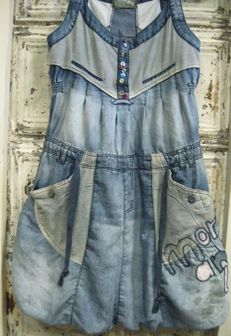 Now that is how to wear a jeans dress.