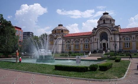 Sofia Bulgaria, was famous for its mineral springs so it's no surprise they had public baths since 16th century.     Sofia public Mineral Baths (Sofiyska gradska mineralna banya ) was built in 1908 on the same spot where the former Turkish baths were.    Read more: http://www.virtualtourist.com/travel/Europe/Bulgaria/Oblast_Grad_Sofiya/Sofia-379460/Things_To_Do-Sofia-public_bath-BR-1.html#ixzz1rUpUL1hQ