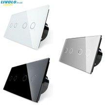 Выключатель света Livolo C-SERIES для управления 4-мя зонами освещения на 2 поста. - Livolo Украина | Сенсорные выключатели света | Умный дом