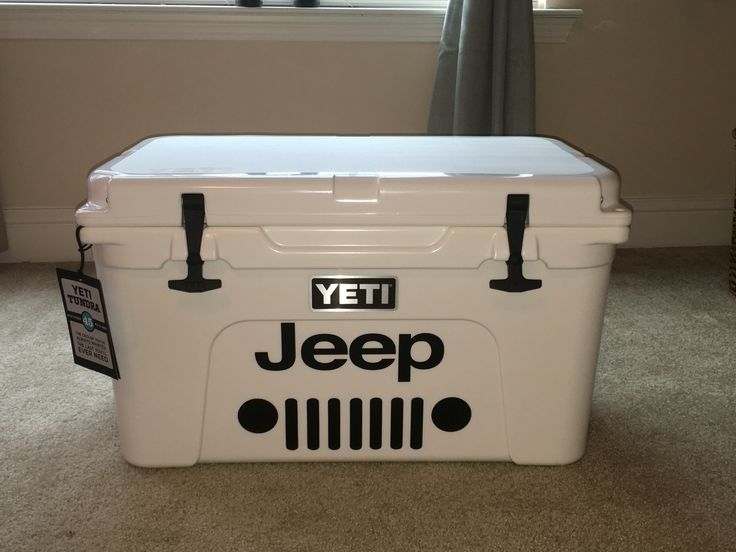 My Yeti 45 with custom Jeep logo! What a great way to personalize and make it my own!