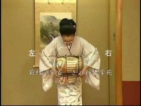 着物の帯の結び方 二重太鼓(ミラーレッスン版・前編) - YouTube