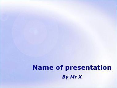 Modèle Powerpoint Ciel Bleu Clair