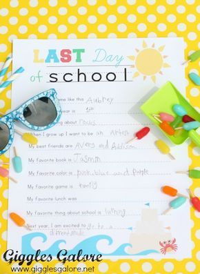 End of School Interview Printable - Giggles Galore